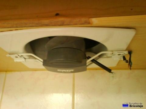 conexiones eléctricas del extractor de aire para la cocina