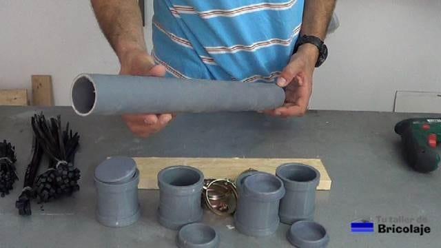 materiales necesarios para realizar el organizador de bridas o cintillos