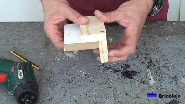 estructura básica de la plantilla para colocar tarugos, espigas o tubillones