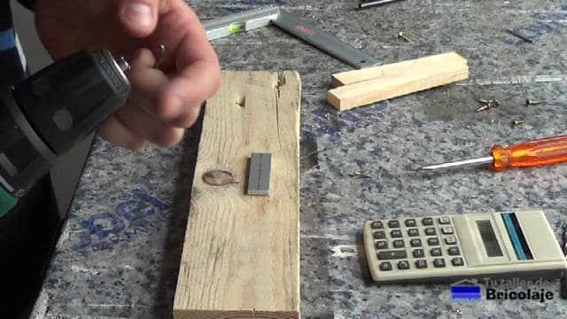 preparando la pletina de aluminio de 3 mm