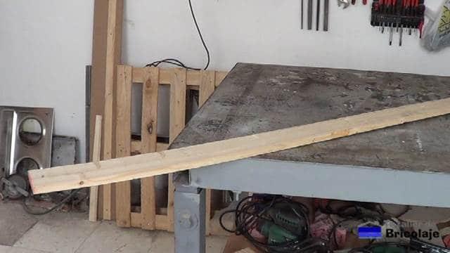 madera para hacer el protector de esquinas