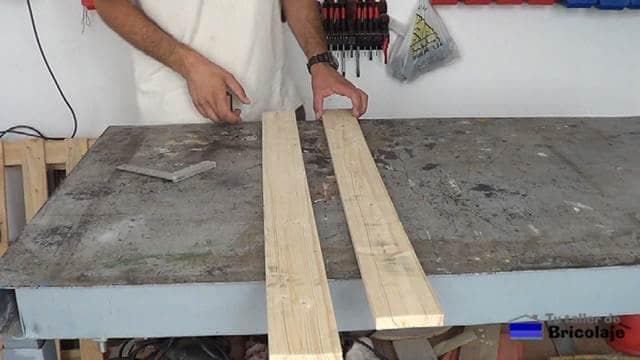 madera necesaria para realizar el protector de esquinas