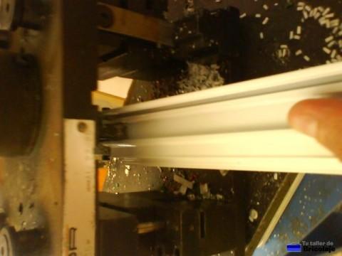mecanizando la puerta de aluminio