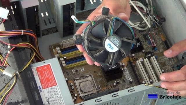 ventilador y disipador del microprocesador
