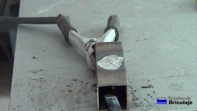 agujero tapado o rellenado con soldadura de arco