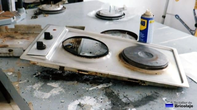 placa eléctrica de cocina sin fogón