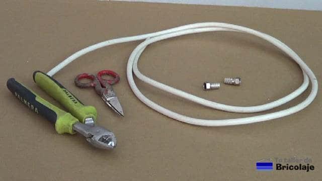 material y herramientas necesarias para realizar el conector tipo f