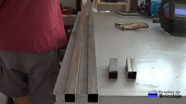 material necesario para realizar los sargentos para ayudar a encolar la madera