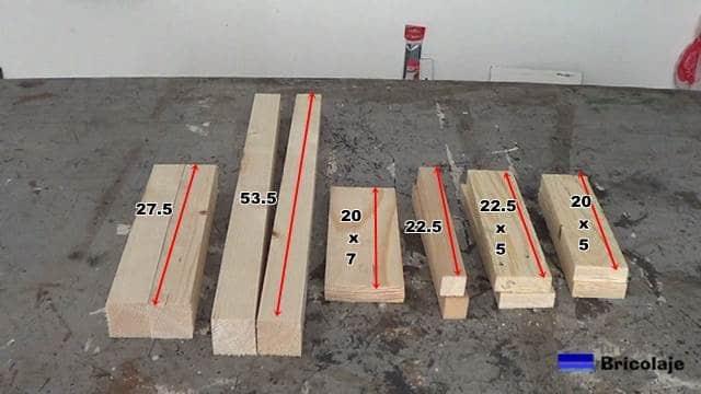 medidas de la madera para hacer la silla de madera para niños con tornillos