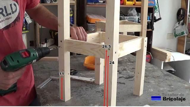 C mo hacer sillas de madera para ni os con tornillos 1 2 for Sillas para armar y recortar