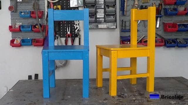 Cómo hacer sillas de madera para niños con tornillos