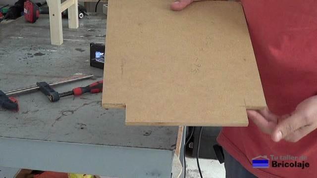 cortes traseros realizados en el asiento