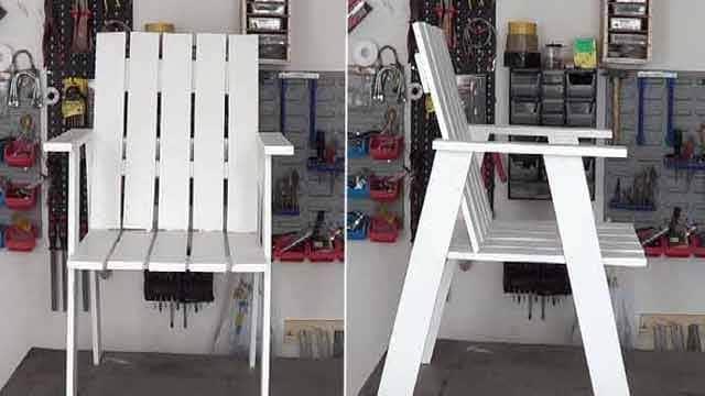 Cómo hacer sillas de terraza con madera de palet