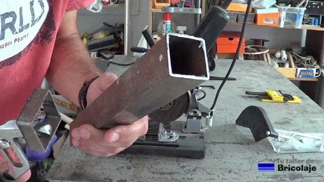 cuadradillo de hierro de 35 x 35 mm