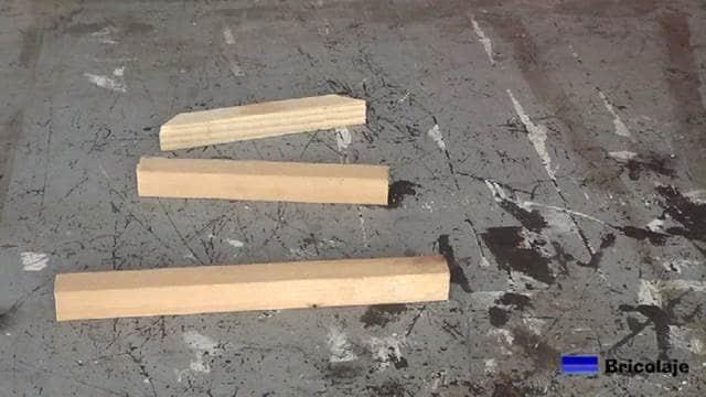 despiece del soporte de madera
