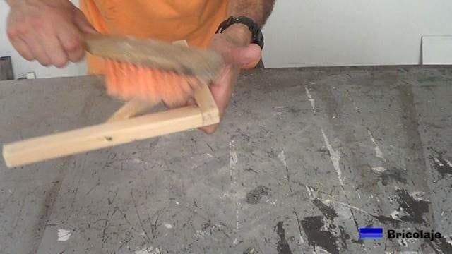 limpiando el soporte