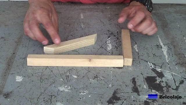 presentado las piezas que darán lugar al soporte de madera