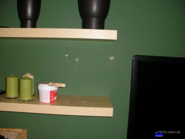 C mo tapar agujeros en la pared for Perchero pared sin agujeros