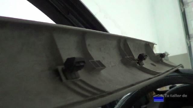 sujecciones plásticas para las molduras del techo del coche