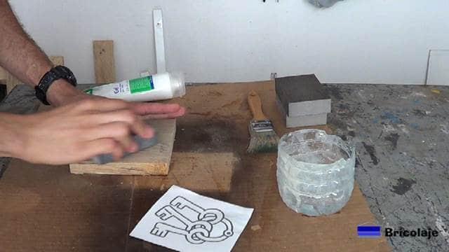 preparando la madera para transferir la imagen a la madera