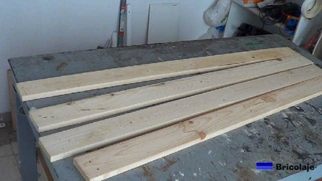 listones de madera de palets