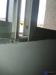 Reparación de ventanas de aluminio desniveladas