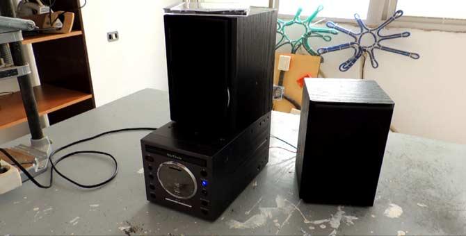 reparación básica de equipo de audio