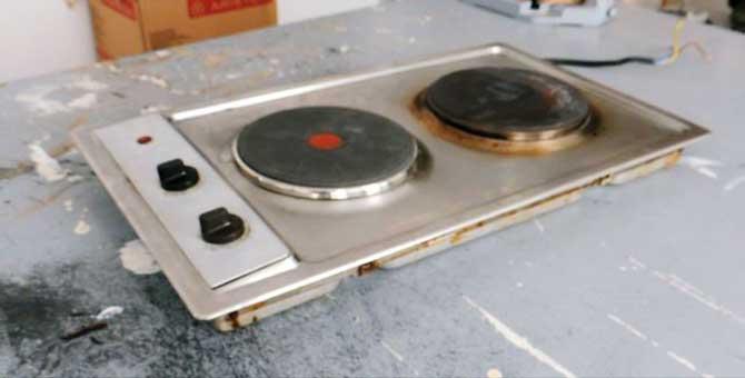 cómo reparar el fogón de una placa eléctrica de cocina