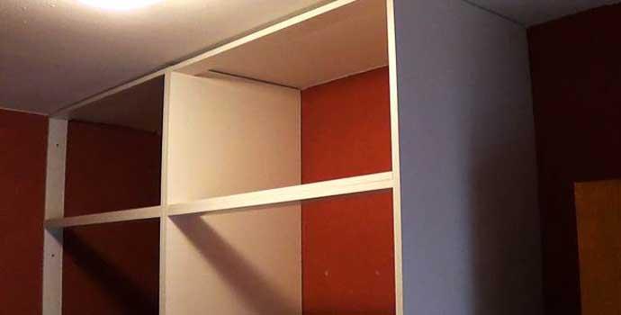 cómo hacer un armario empotrado a medida: la estructura.