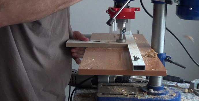 cómo hacer una plantilla para abrir bisagras de cazoleta