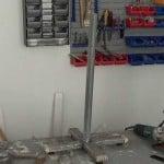 Cómo hacer una burra o caballete metálico regulable en altura. 1ª parte