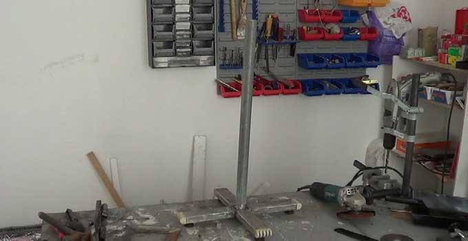 Cómo hacer una burra o caballete metálico regulable en altura. 1ª parte.