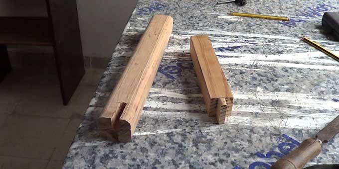 Cómo unir madera mediante caja y espiga.