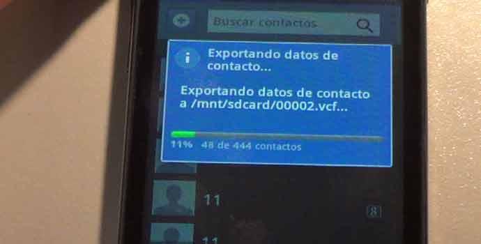 Cómo hacer una copia de seguridad de los contactos en android