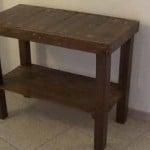 Cómo hacer una mesa recibidor con palets