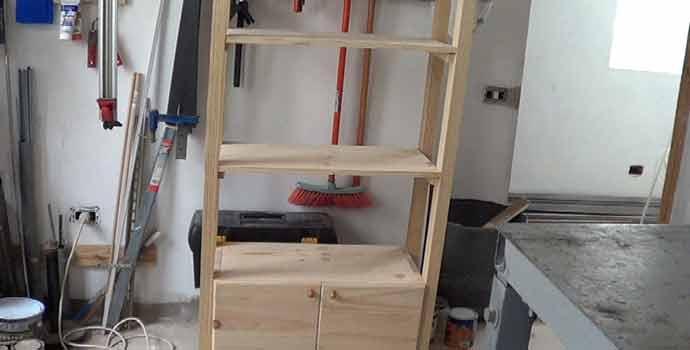 cómo hacer un mueble auxiliar de baño tipo columna