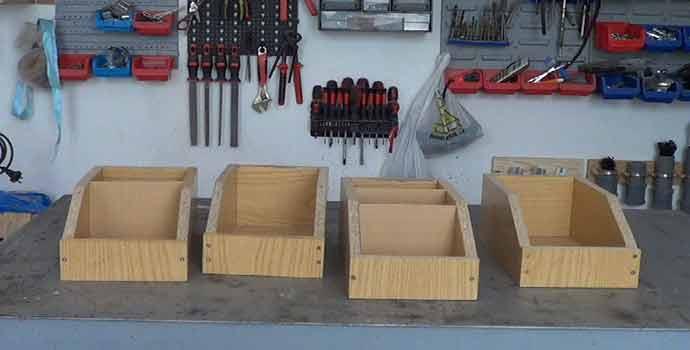 Cómo hacer unas cajitas de madera para organizar el taller