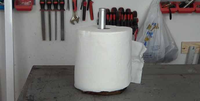 Cómo hacer un porta rollos de papel de cocina