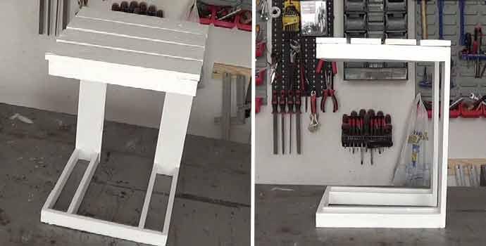 Cómo hacer una mesa auxiliar de terraza con palets