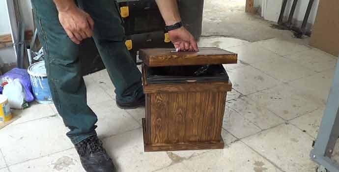 Cómo hacer un cubo de basura de palets