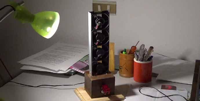 Realizando mejoras al ventilador casero