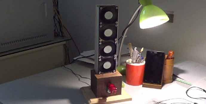 ventilador casero con ventiladores de pc