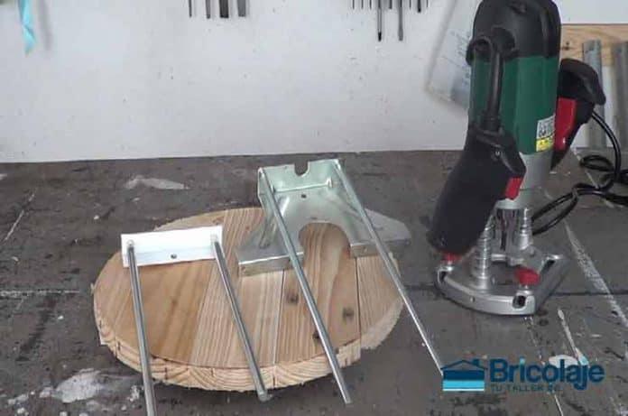 accesorio casero para cortes circulares con fresadora o router