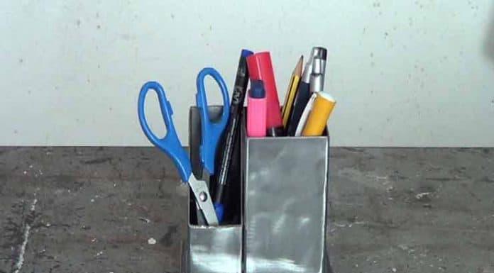 Cómo hacer un lapicero industrial con restos de hierro