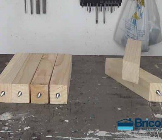 sistema de sujección para pequeñas patas de madera