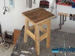 Cómo hacer taburete de madera palet