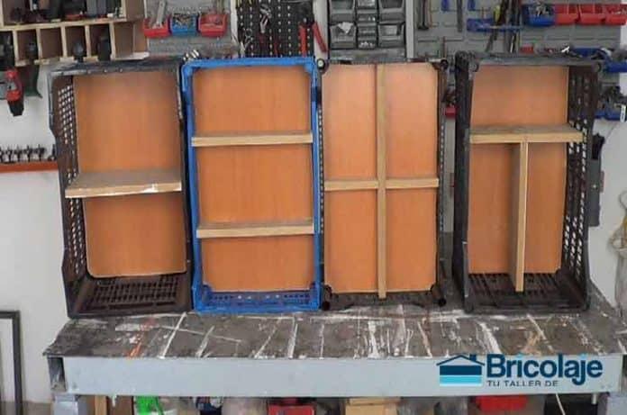 cajas organizativas del taller mediante reciclaje