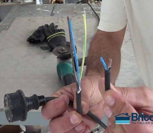 reparación sencilla del cable de la amoladora