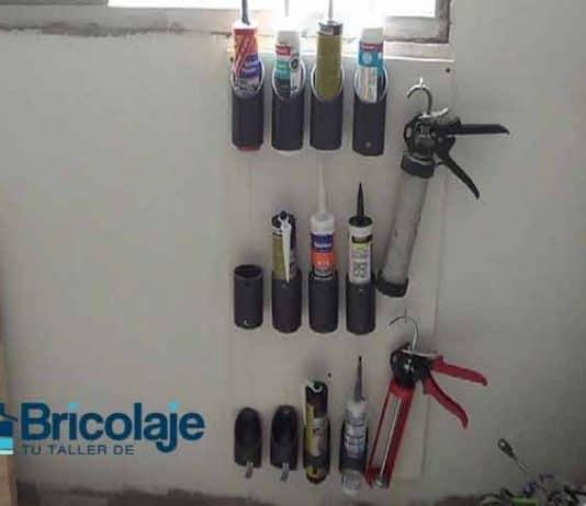 Cómo hacer un organizador para botes y pistola de silicona