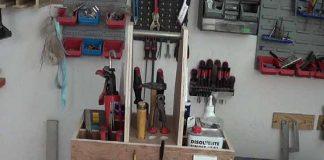caja de herramientas casera con materiales reciclados